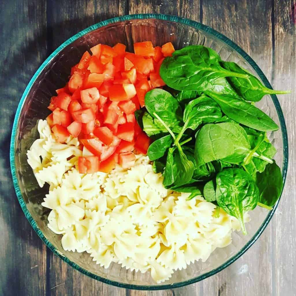 Making a delicious Caprese Pasta Salad! Check out the recipehellip