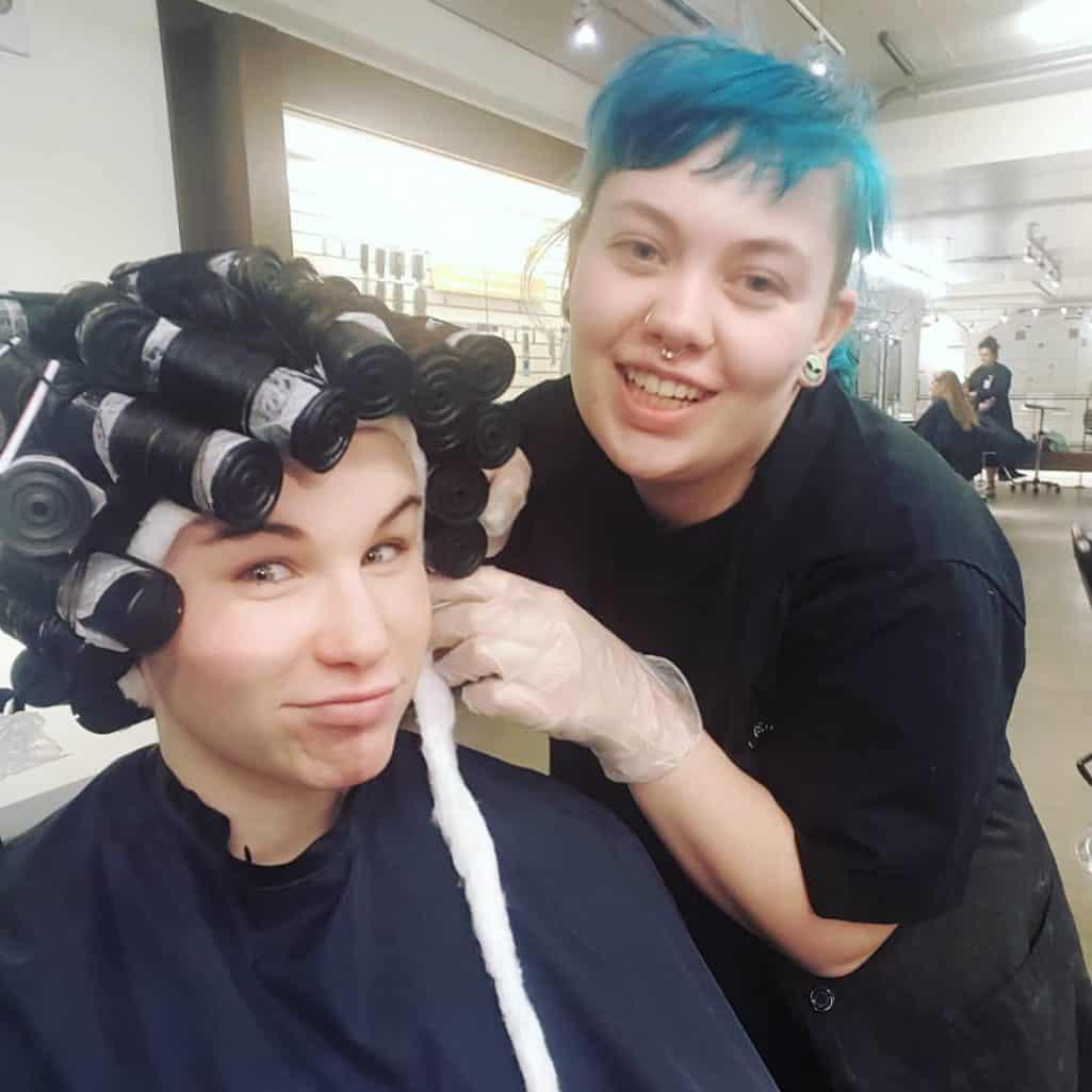 Feeling saxy    hair gettingmyhairdid perm curly curlyhairhellip