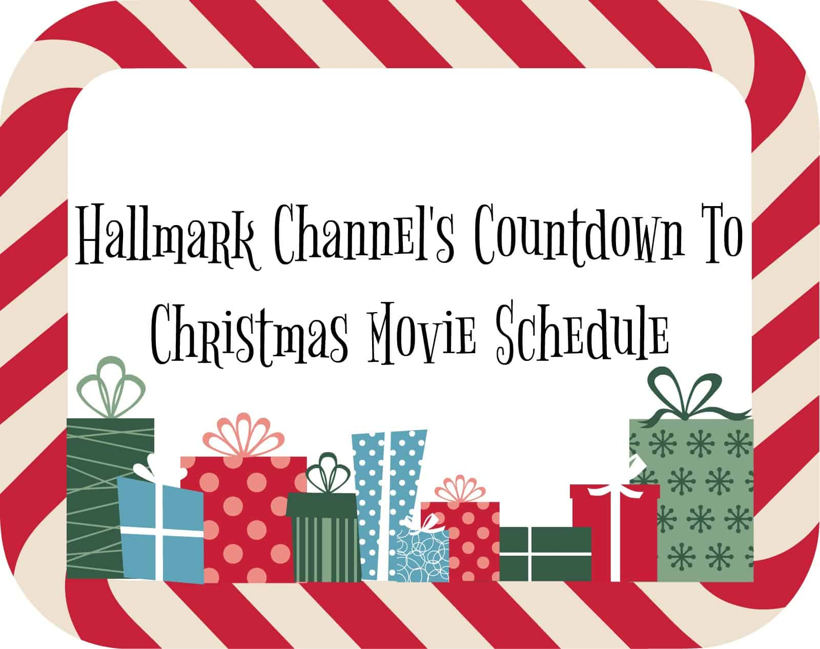 Hallmark Channel\'s Countdown To Christmas Movie Schedule - Seasonal ...