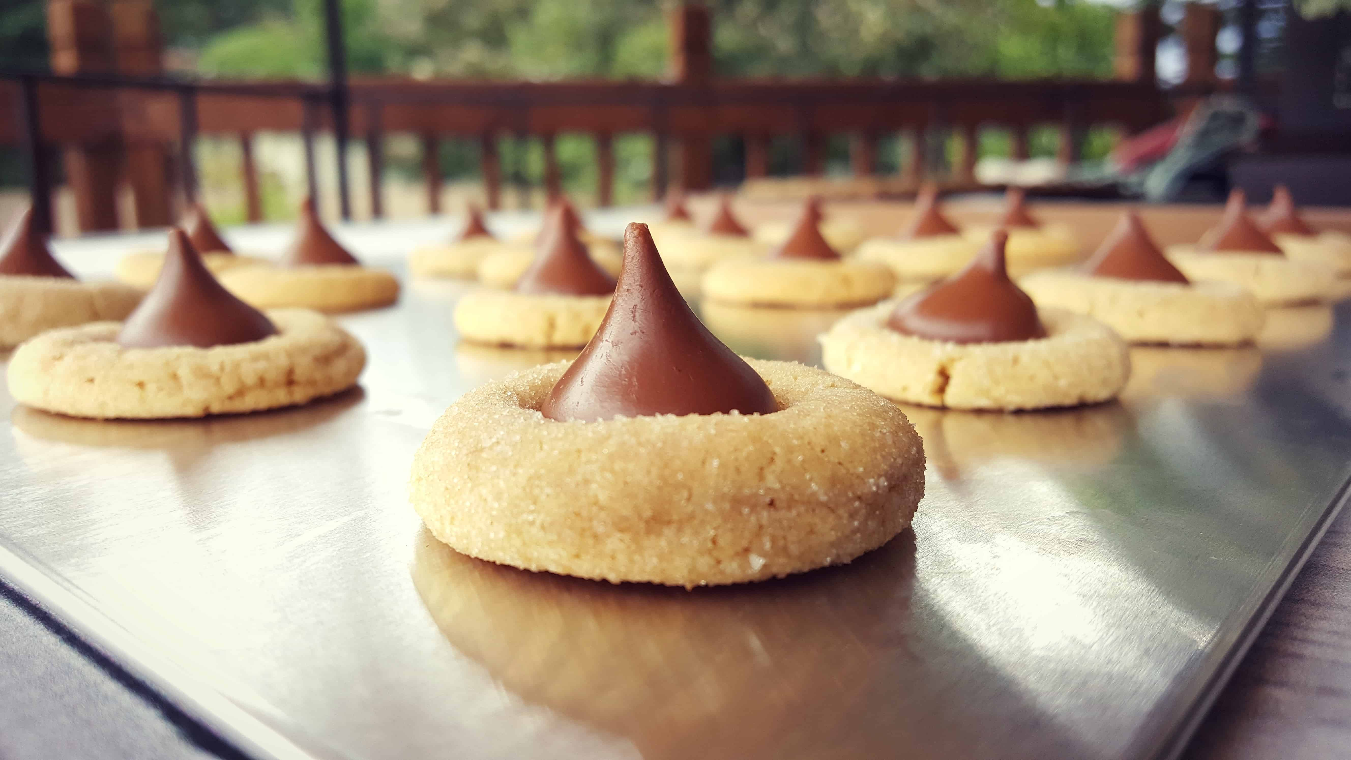 Peanut Butter Blossom Christmas Cookies