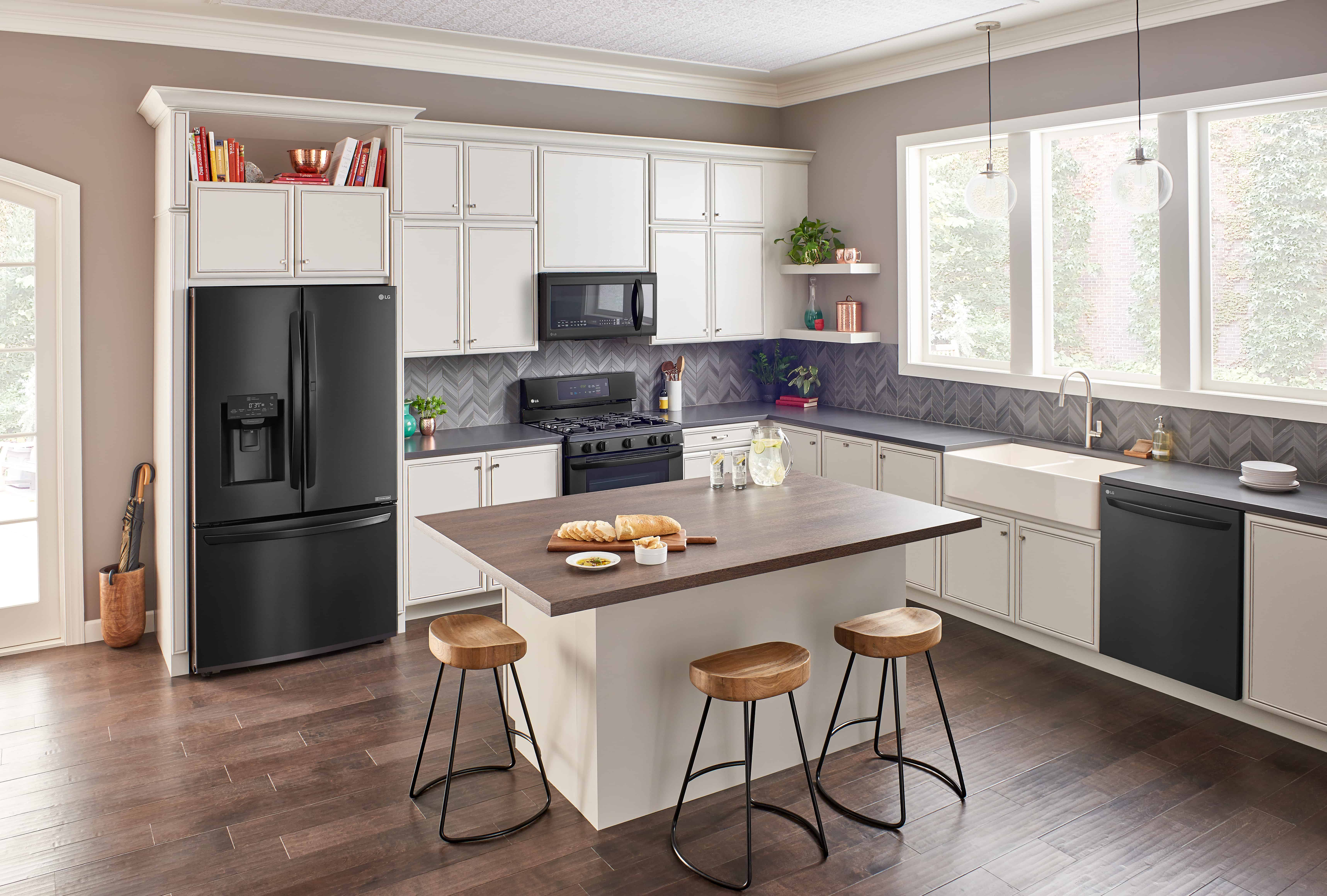 New Matte Black Lg Kitchen And Laundry Liances At Best