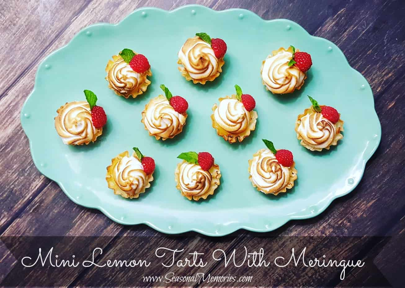 Mini Lemon Tarts With Meringue