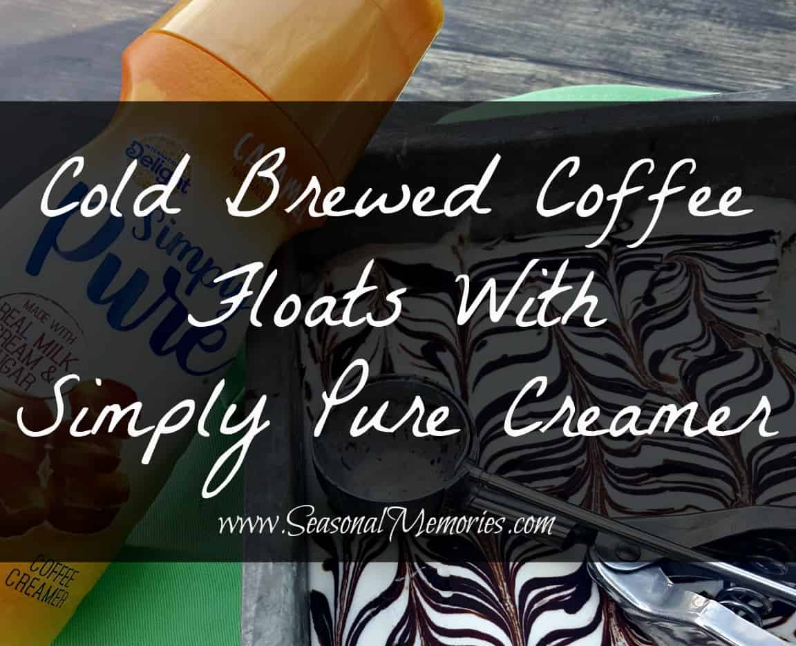 Cold Brewed Coffee Floats With Simply Pure Creamer