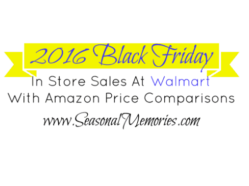2016 Walmart Black Friday Shopping With Amazon Price Comparables