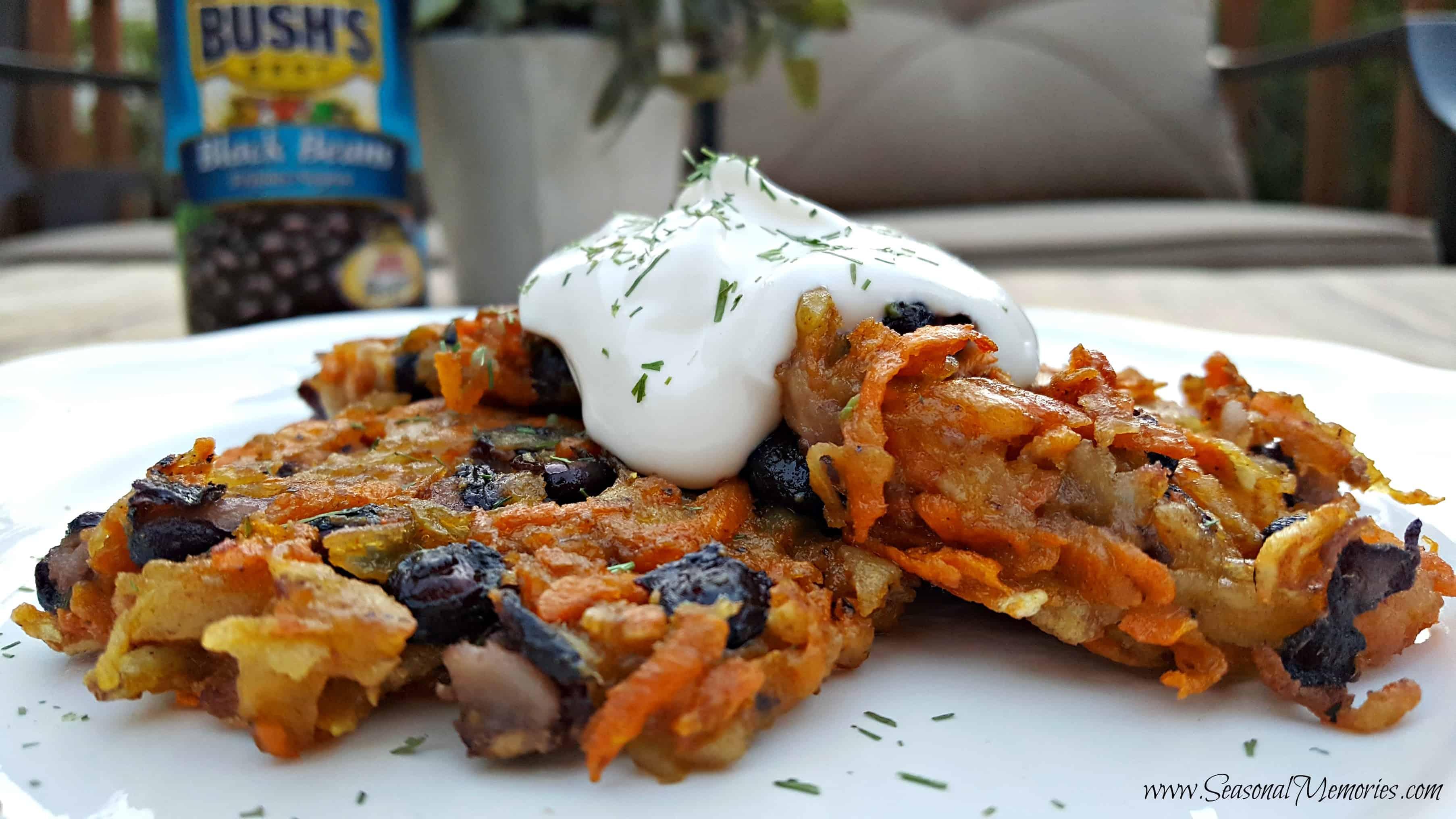 Tex-Mex Sweet Potato Pancakes