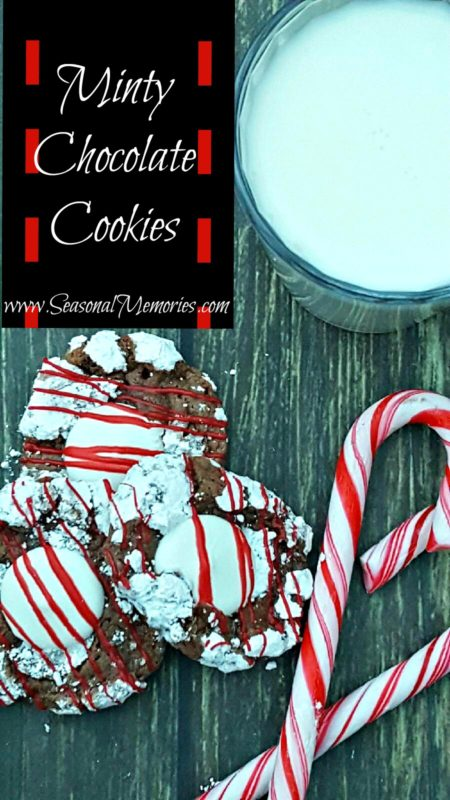 The Perfect Christmas Minty Chocolate Cookies - Seasonal Memories