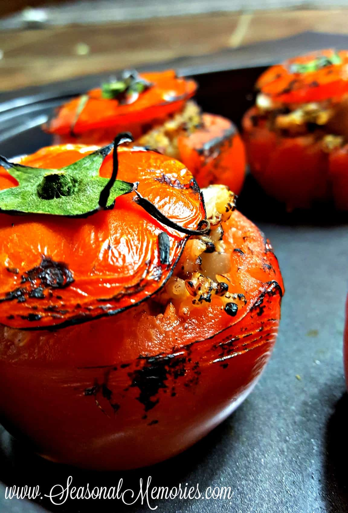 Spicy Quinoa Stuffed Tomatoes