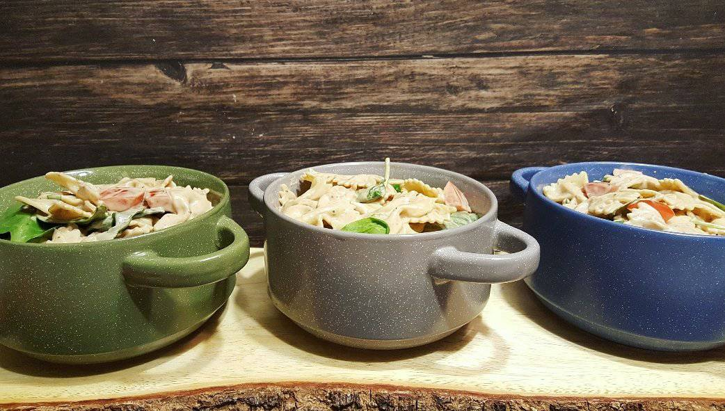 Caprese Pasta Salad With Creamy Balsamic Dressing