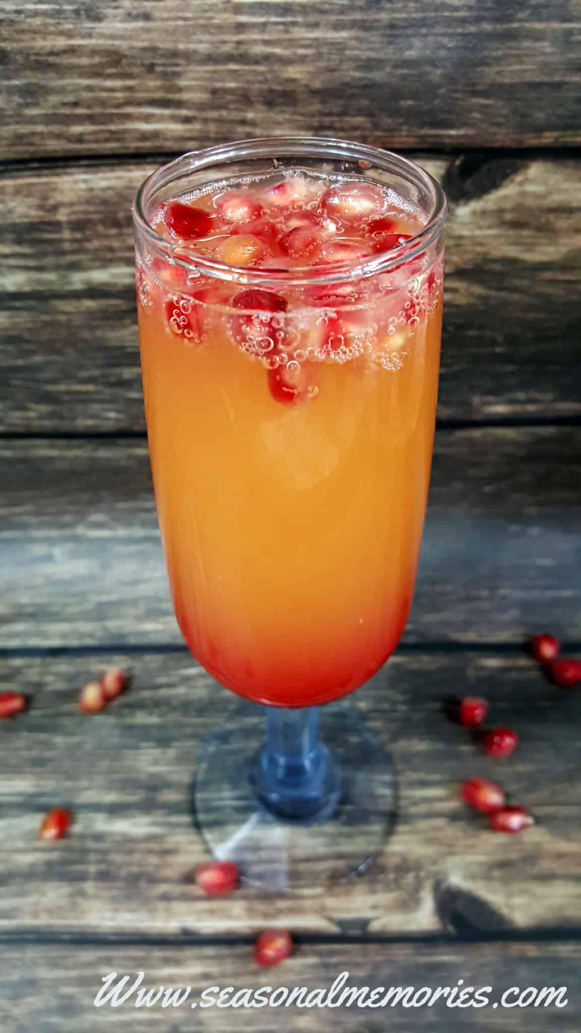 New Year's Eve Pomegranate Mimosas